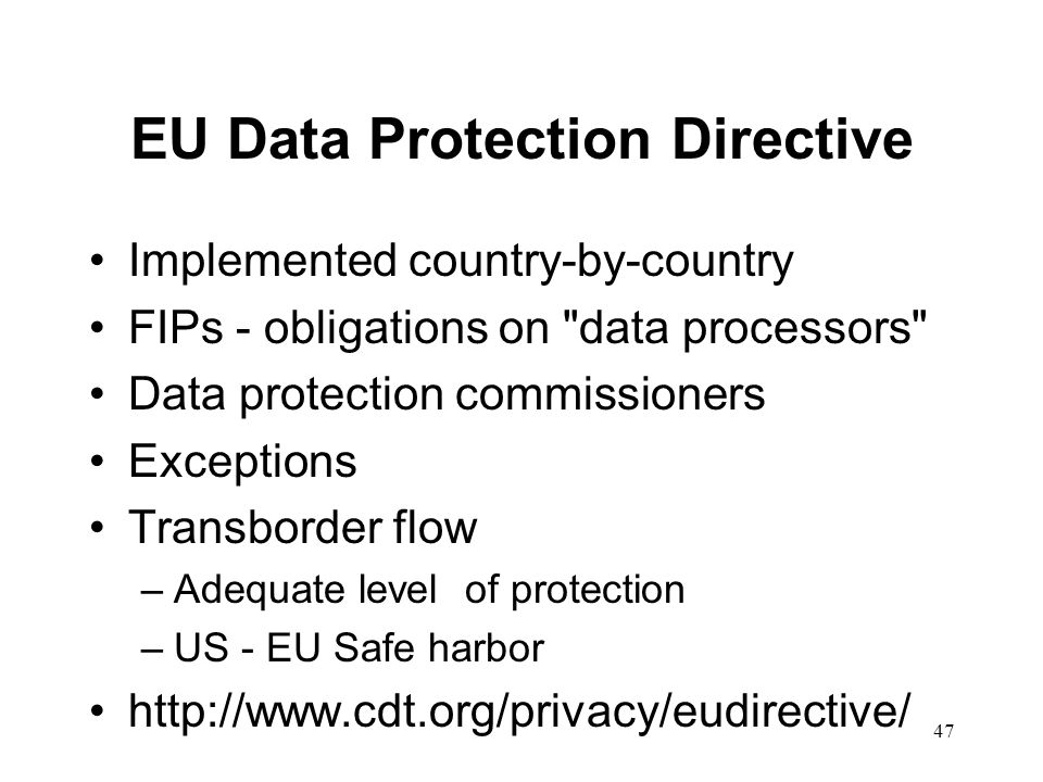 EU Data Protection Directive