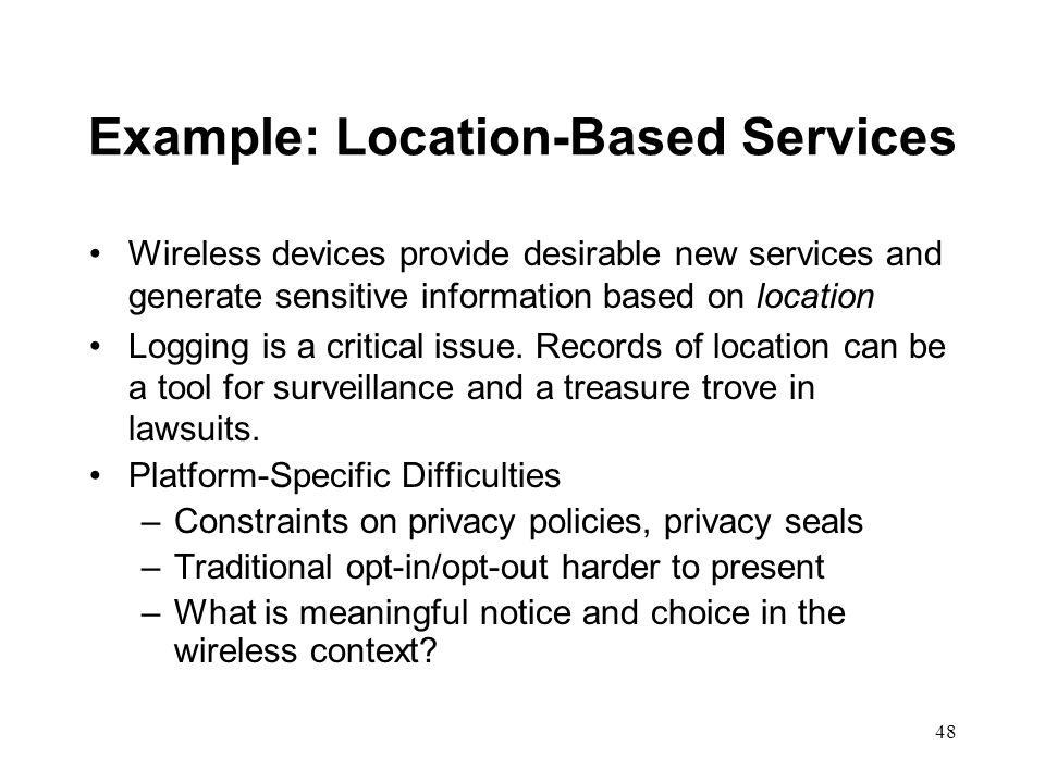 Example: Location-Based Services
