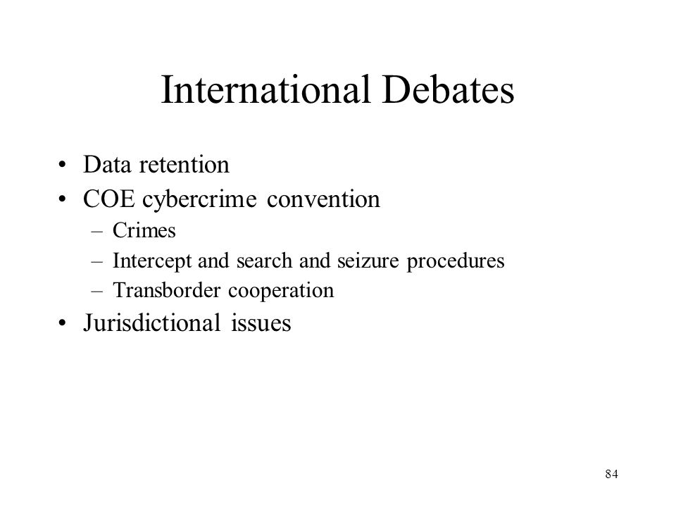 International Debates