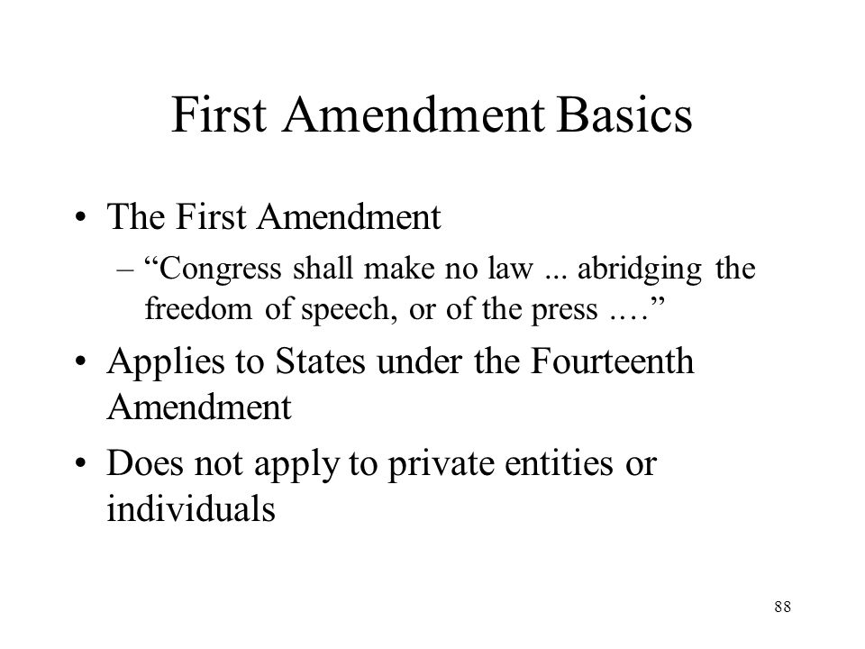 First Amendment Basics