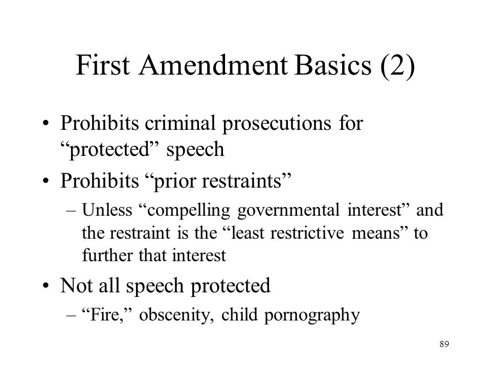 First Amendment Basics (2)