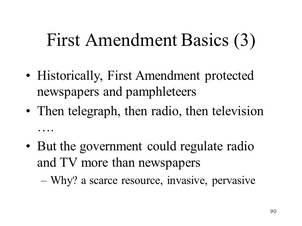 First Amendment Basics (3)