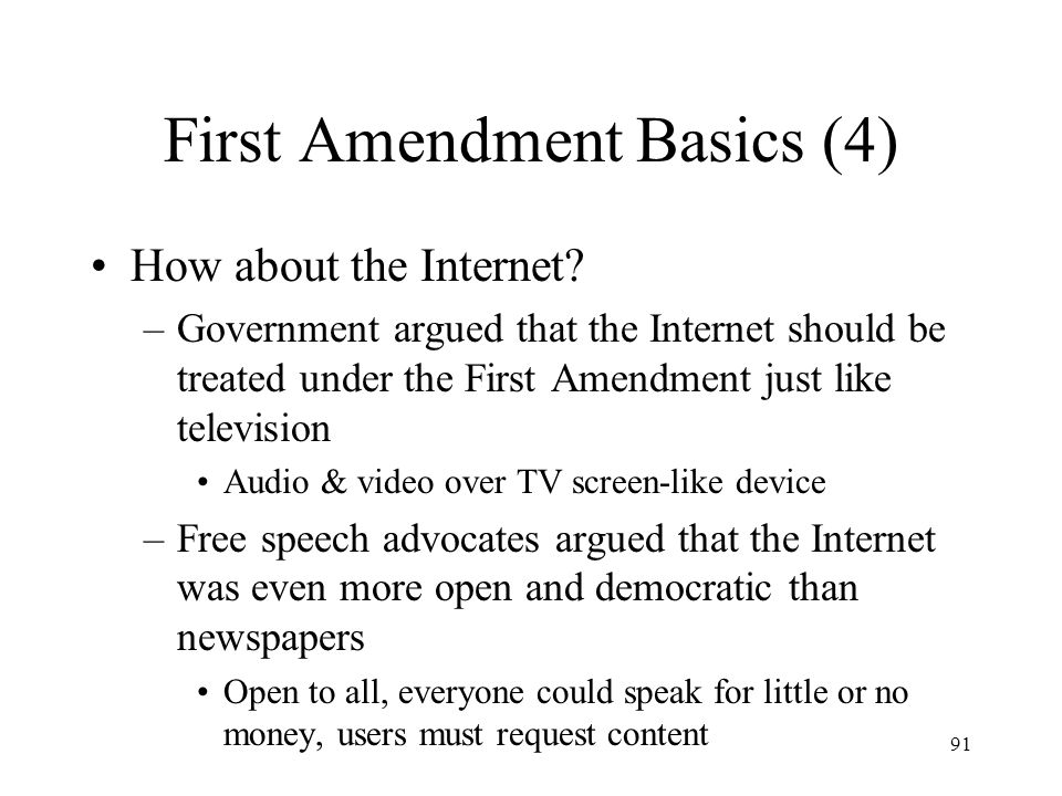First Amendment Basics (4)