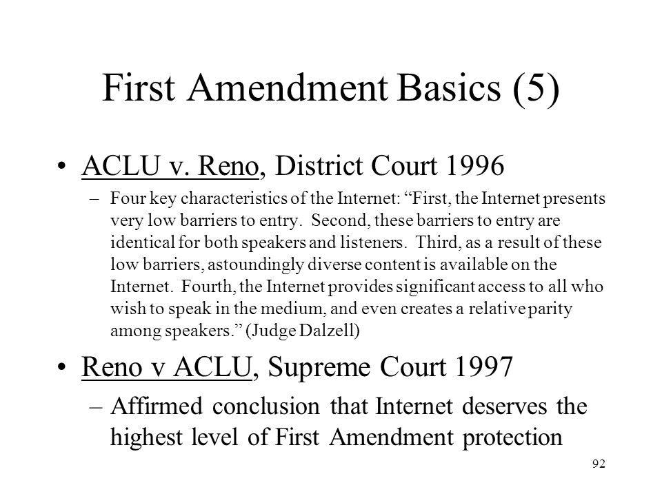 First Amendment Basics (5)