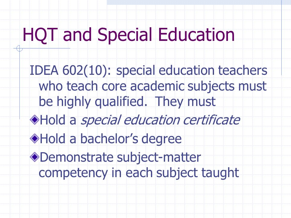 HQT and Special Education