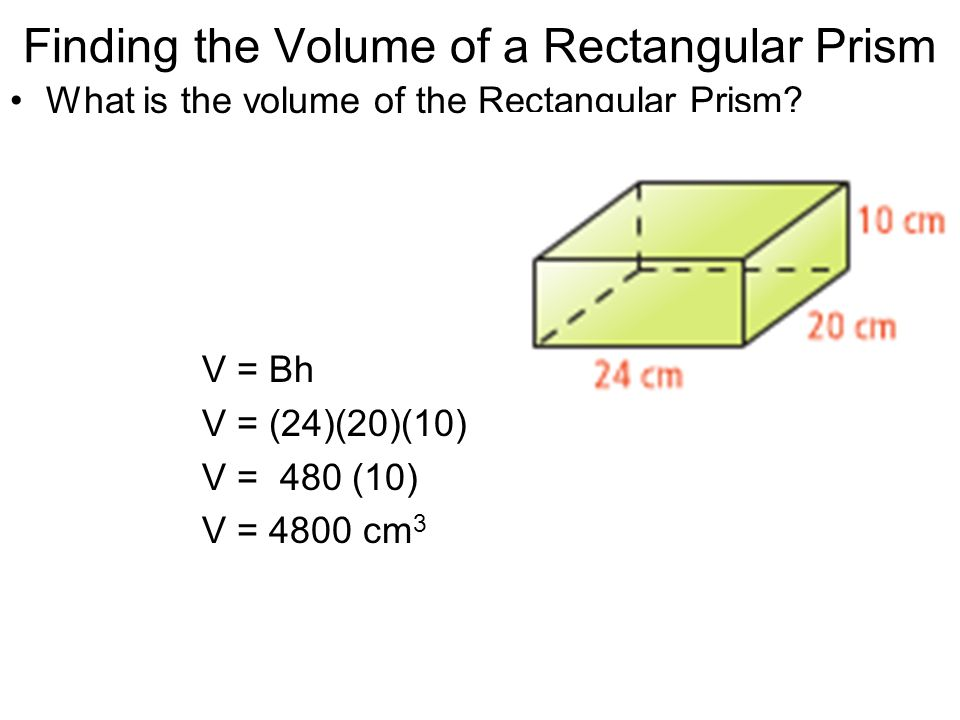 Finding the Volume of a Rectangular Prism