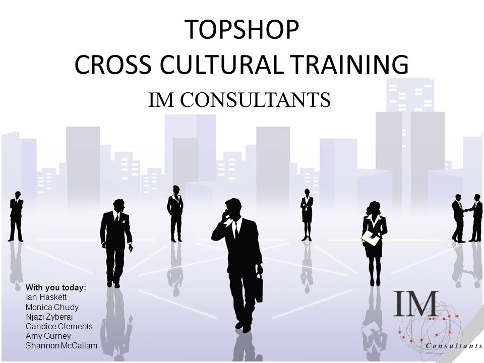 TOPSHOP CROSS CULTURAL TRAINING