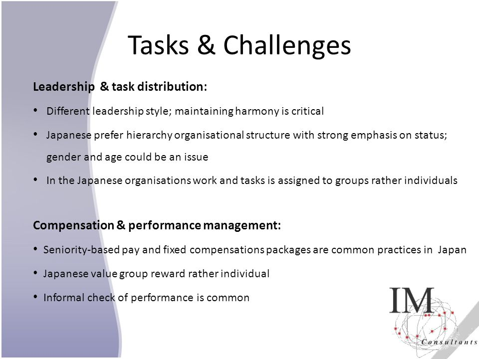 Tasks & Challenges Leadership & task distribution: