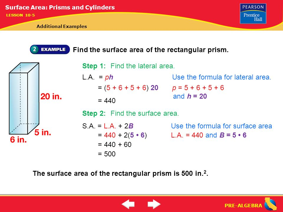 surface area of rectagular prism pdf