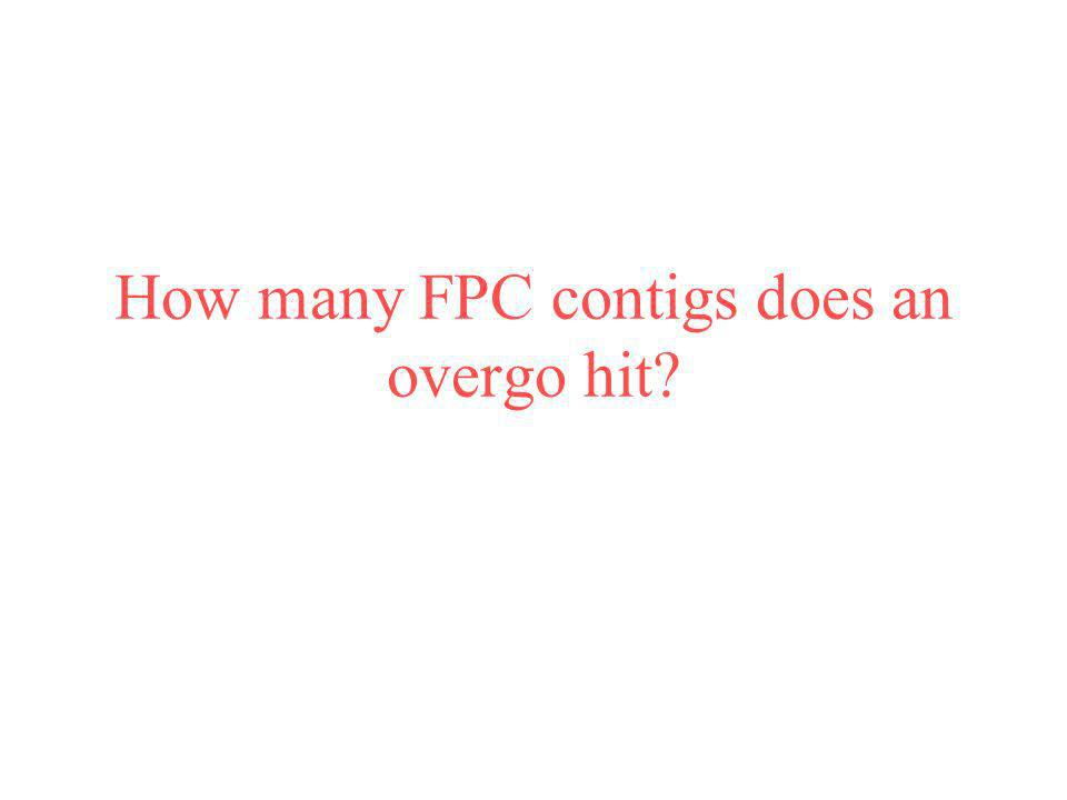 How many FPC contigs does an overgo hit