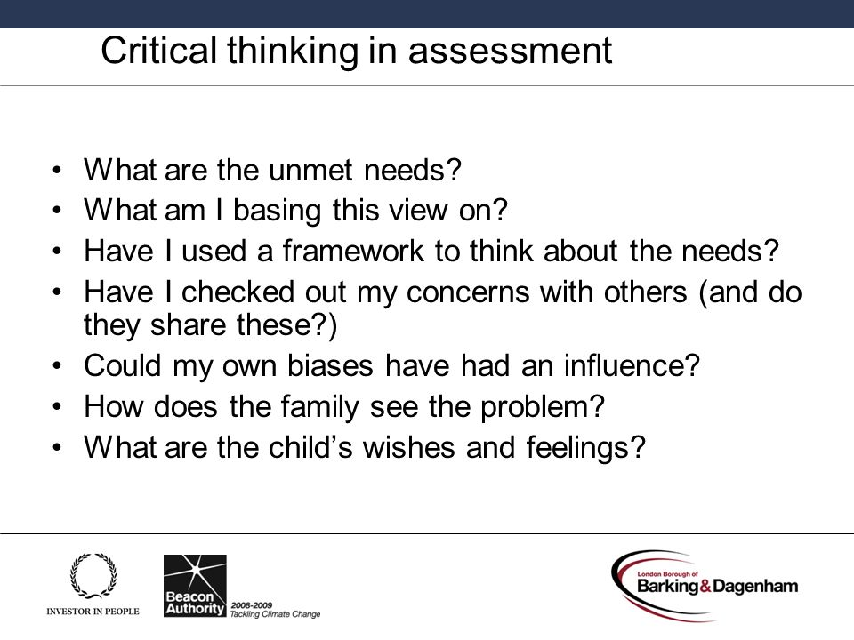 Critical thinking in health assessment ppt