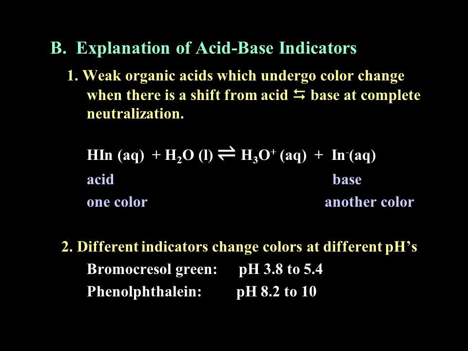 B. Explanation of Acid-Base Indicators