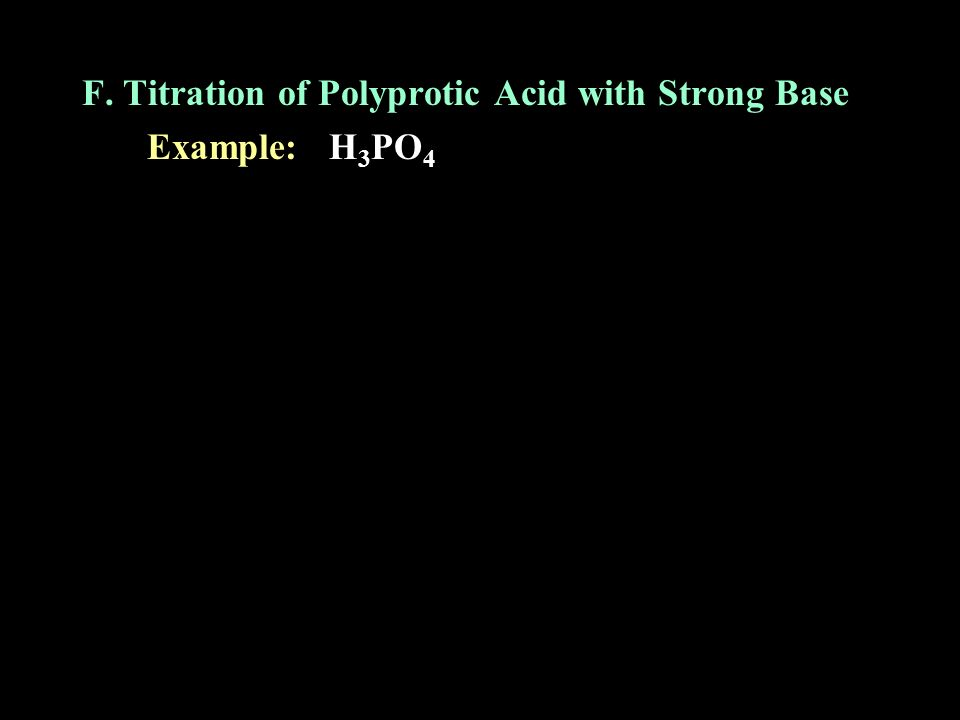 F. Titration of Polyprotic Acid with Strong Base