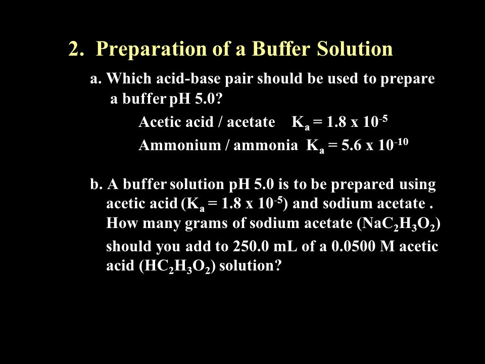 2. Preparation of a Buffer Solution