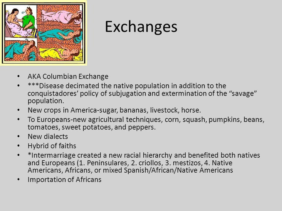 Exchanges AKA Columbian Exchange