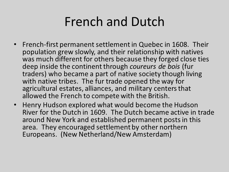 French and Dutch