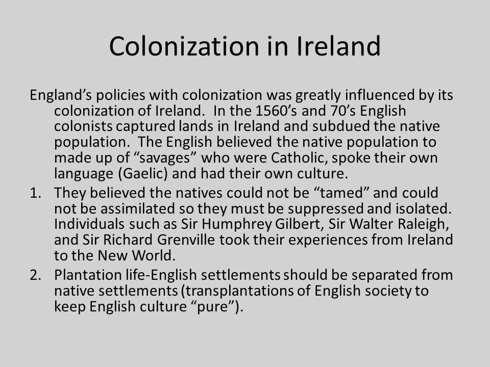 Colonization in Ireland