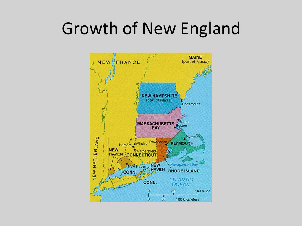 Growth of New England
