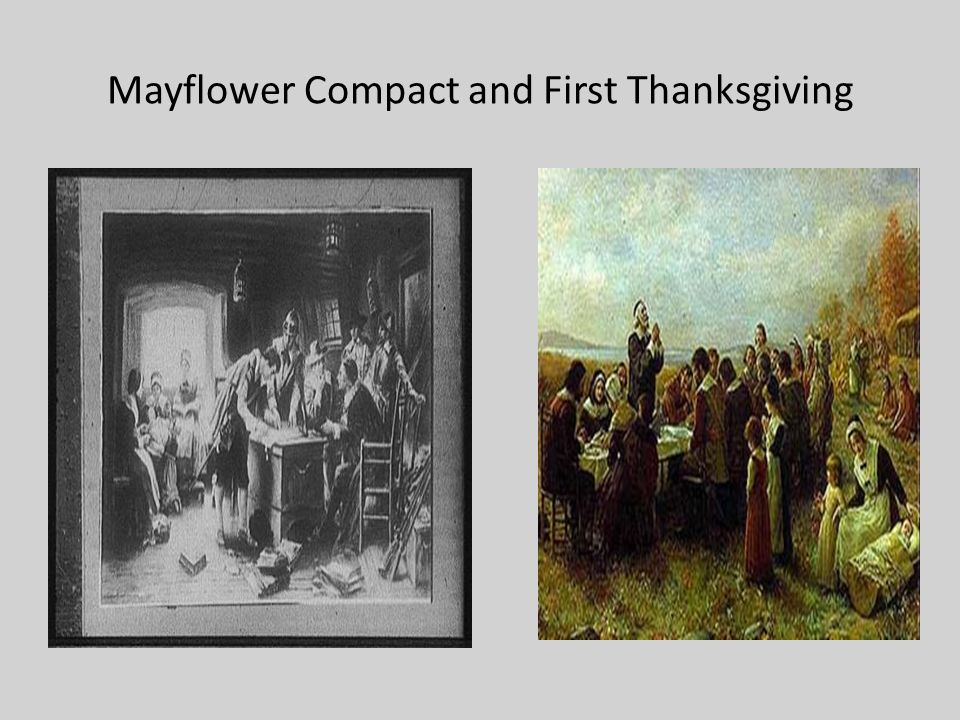 Mayflower Compact and First Thanksgiving