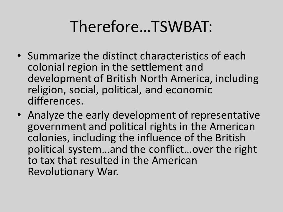 Therefore…TSWBAT:
