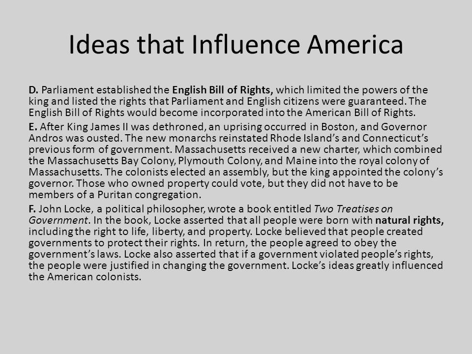 Ideas that Influence America