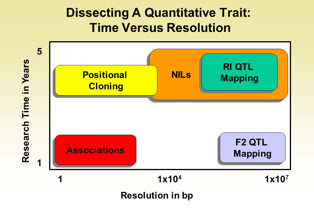 Dissecting A Quantitative Trait: Time Versus Resolution