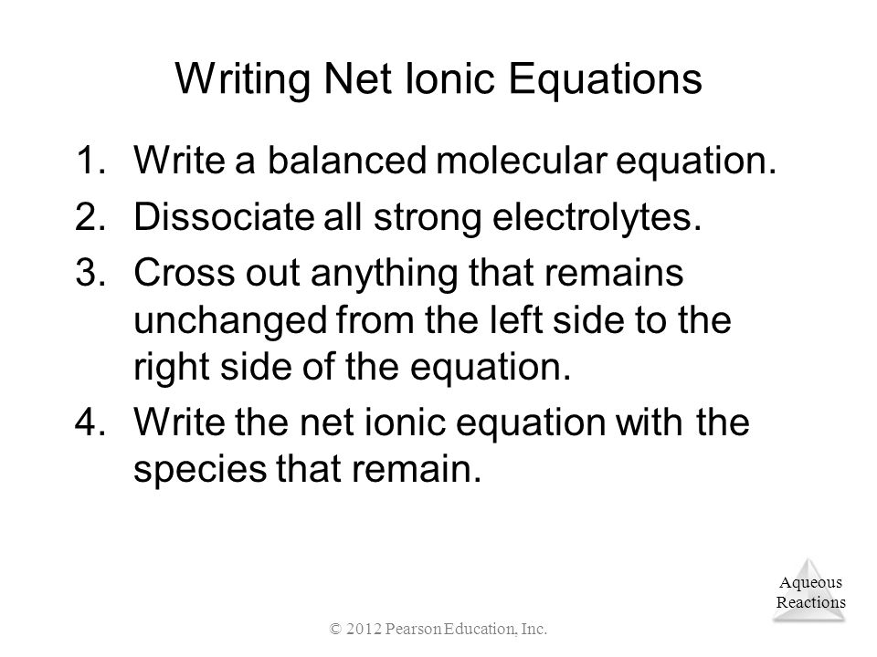 Complete ionic and net ionic equations