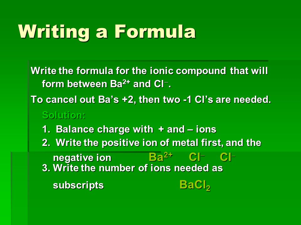 Naming And Formula Writing - Ppt Video Online Download