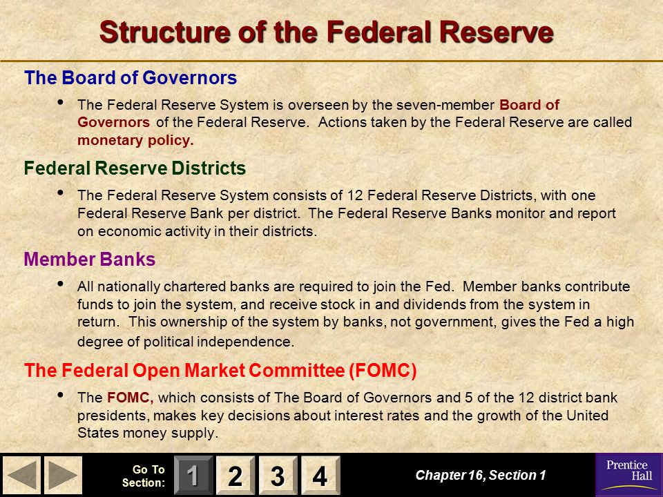 Federal Reserve System Structure Economics: Prin...