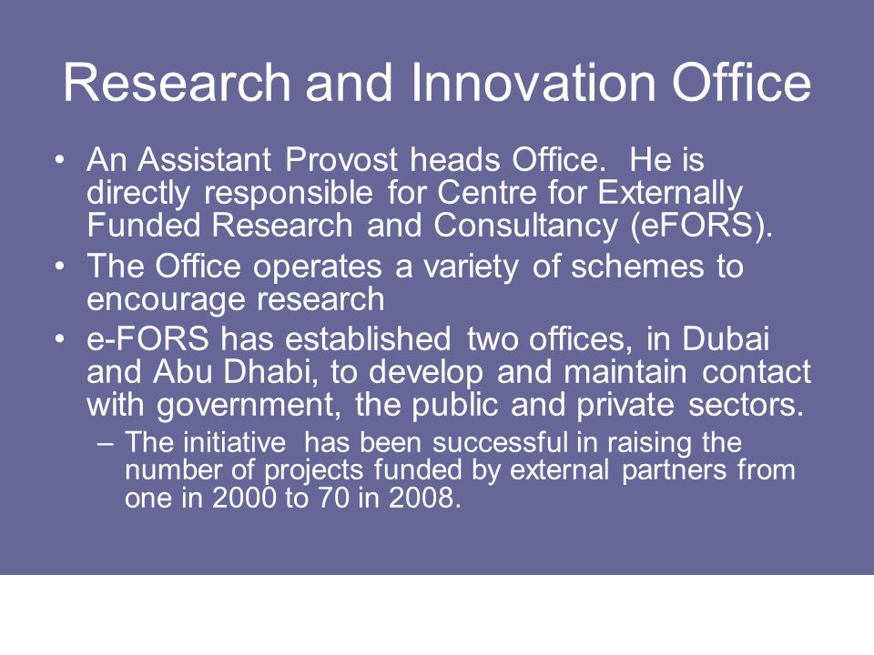 Research and Innovation Office