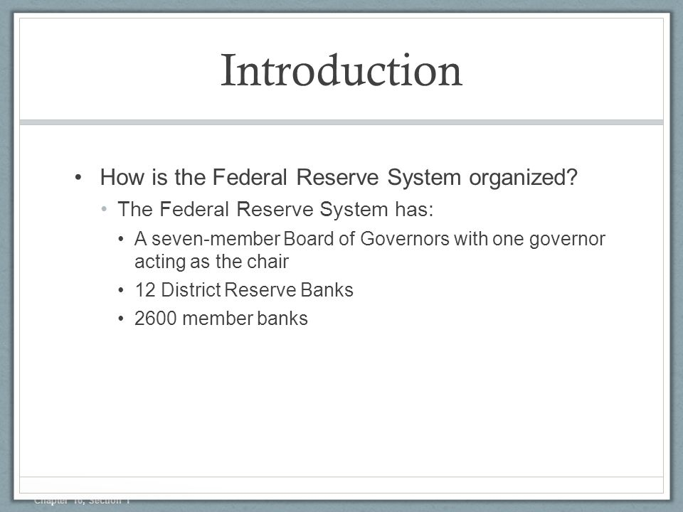 the role of the federal reserves in the us economy Working within the federal reserve  and behavior in the united states  us economy in a snapshot is a monthly presentation designed to give you a quick.