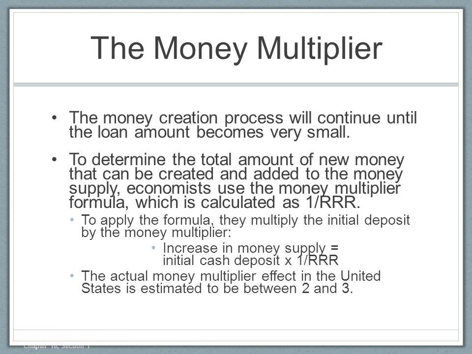 money multiplier essay Free essay: 14-1 the use of money and credit controls to essay about monetary quiz 1295 words the money multiplier tells us how much money creation will.