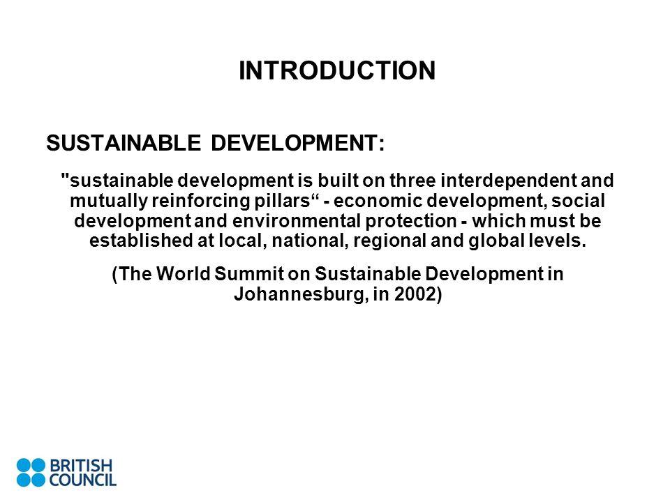 (The World Summit on Sustainable Development in Johannesburg, in 2002)