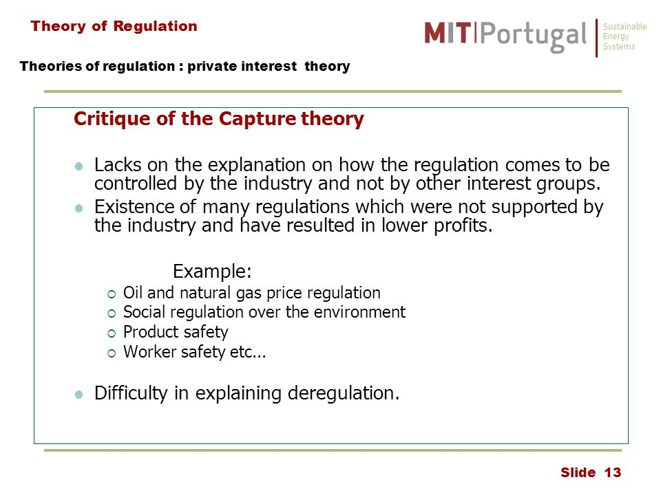 private interest theory of accounting regulation Accounting home posts rss capture theory and regulation the theory states that regulations are manipulated to fit the requirements of those affected by them the theory suggests that over a given period of time regulations serve the interests of the industries concerned  similarity of economic interest theory (private interest theory.