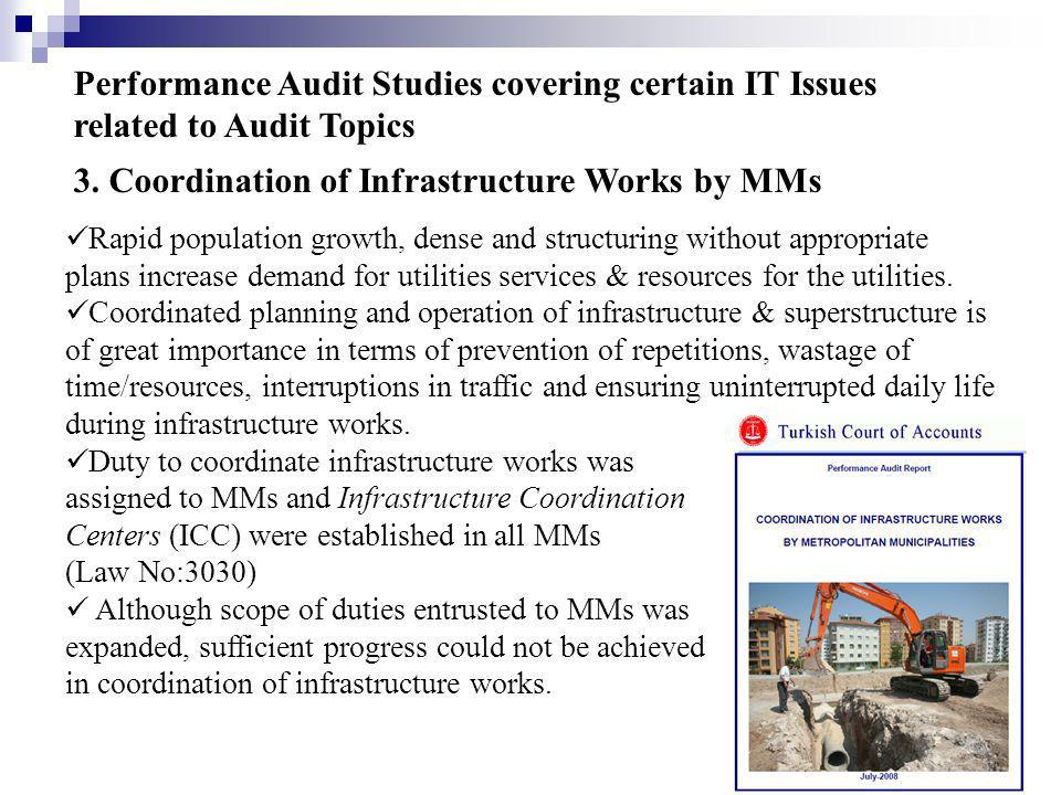 3. Coordination of Infrastructure Works by MMs