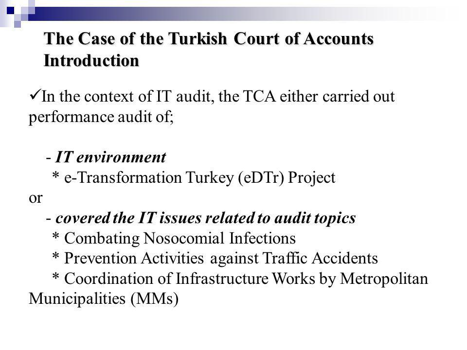 The Case of the Turkish Court of Accounts Introduction