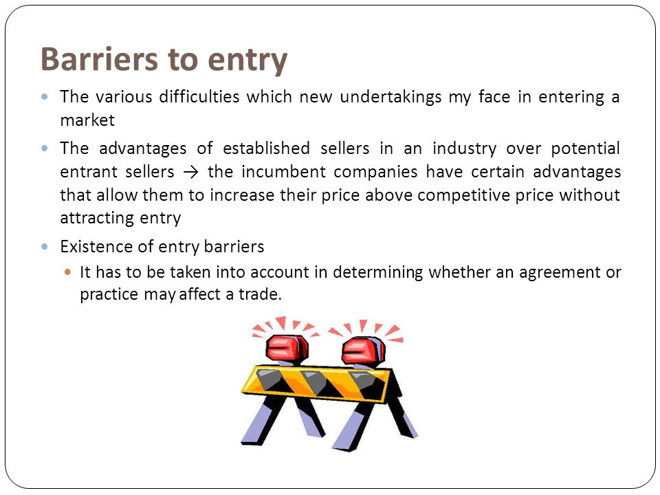 entry barriers for new companies Market entry barriers are crucial environmental factors  barriers to new  global barriers to market entry for developing country businesses in.