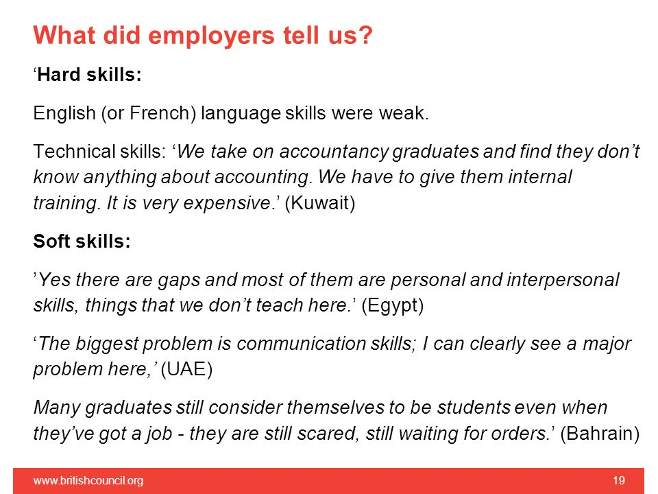 What did employers tell us