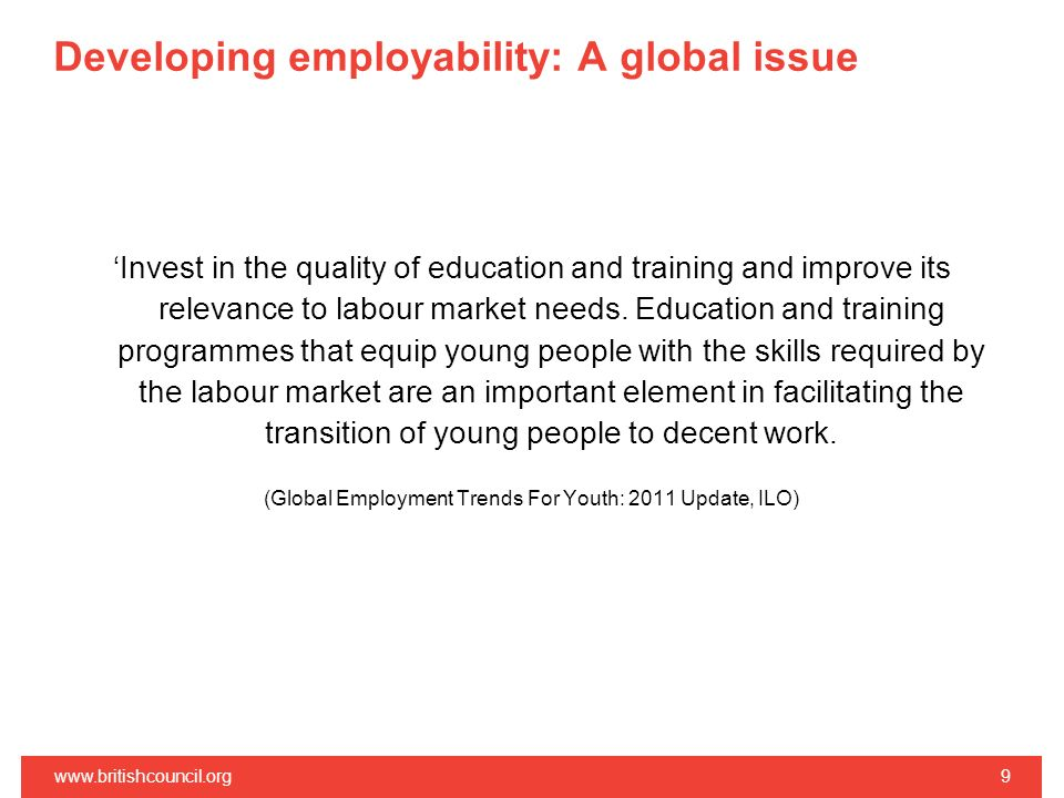 Developing employability: A global issue
