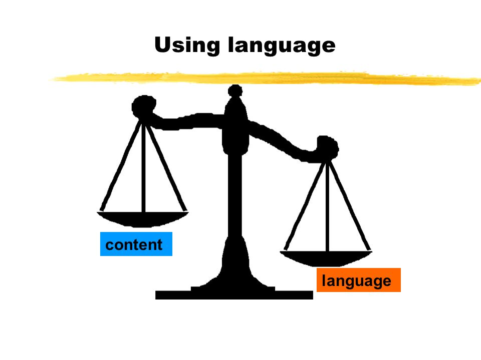 Using language content language