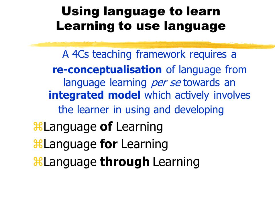 Using language to learn Learning to use language