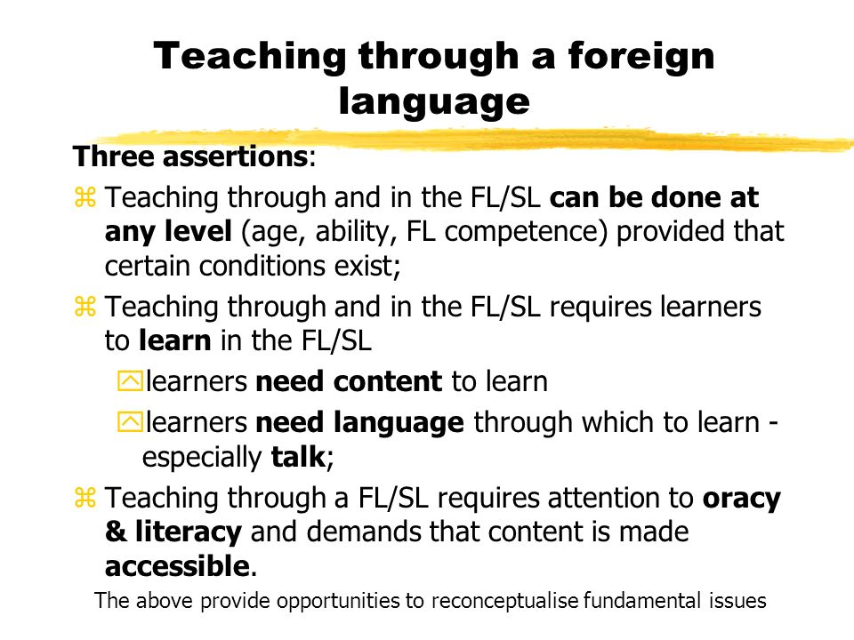 Teaching through a foreign language