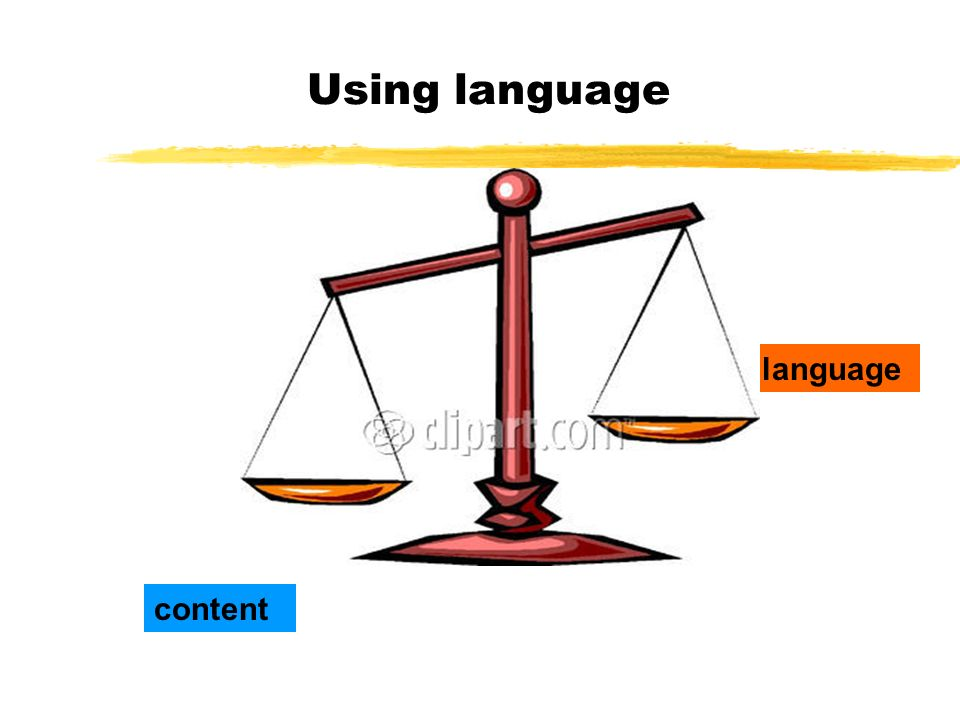 Using language language content