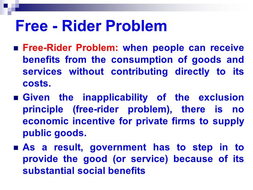 Free - Rider Problem