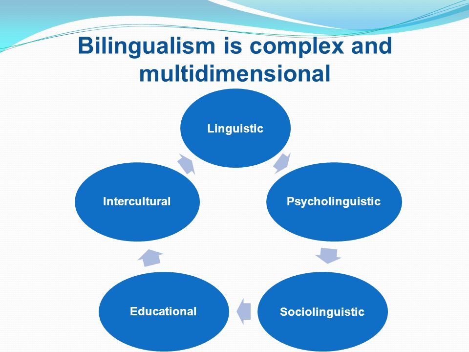 Bilingualism is complex and multidimensional