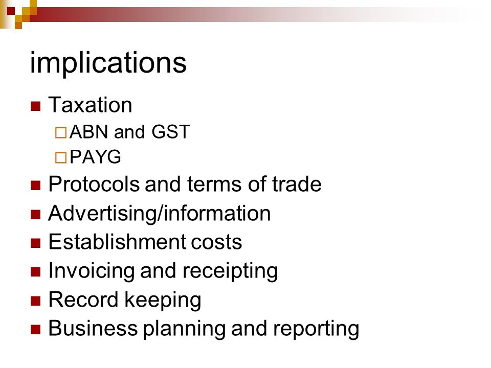 implications Taxation Protocols and terms of trade