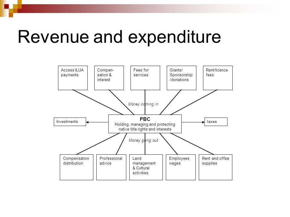 Revenue and expenditure
