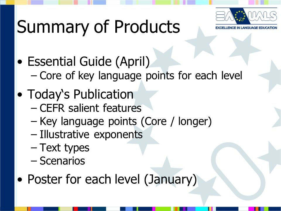 Summary of Products Essential Guide (April) Today's Publication