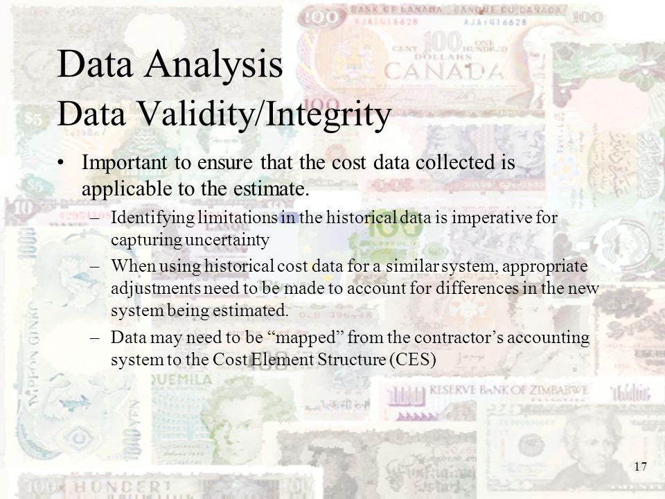 Data Analysis Data Validity/Integrity
