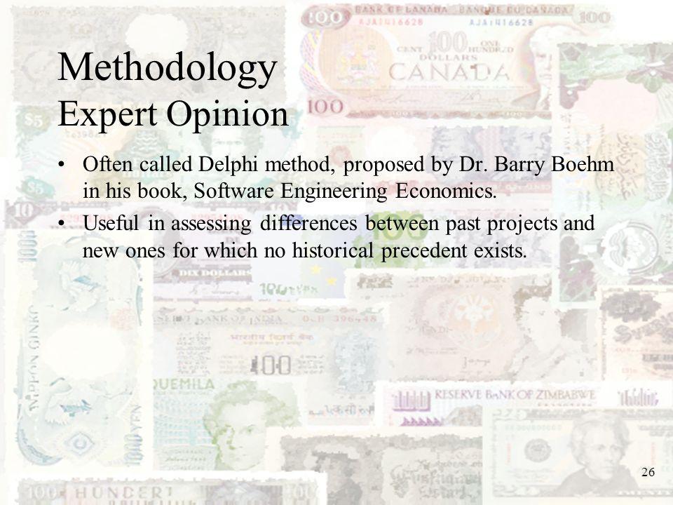 Methodology Expert Opinion